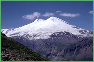 Il monte Elbrus in Asia