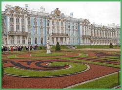 I giardini lato orientale del Palazzo di Puskin