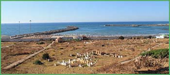 Vista sull'Oceano Atlantico da Rabat