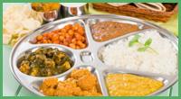 Un mix di piatti della tradizione indiana