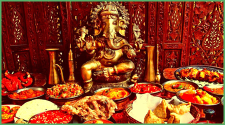 La cucina indiana in testata